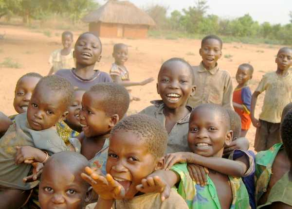 Børn fra Katanga-procvinsen i DR Congo