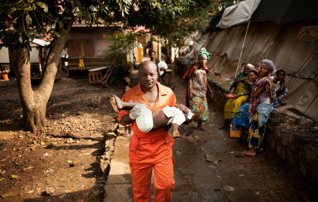 Børn er mest udsatte, når et malaria-udbrud rammer. Foto © Leonora Baumann/Læger uden Grænser