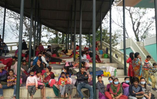 Mange har mistet deres hjem under jordskælvet i Nepal og bor nu i den midlertidige lejr i Tundikhel.