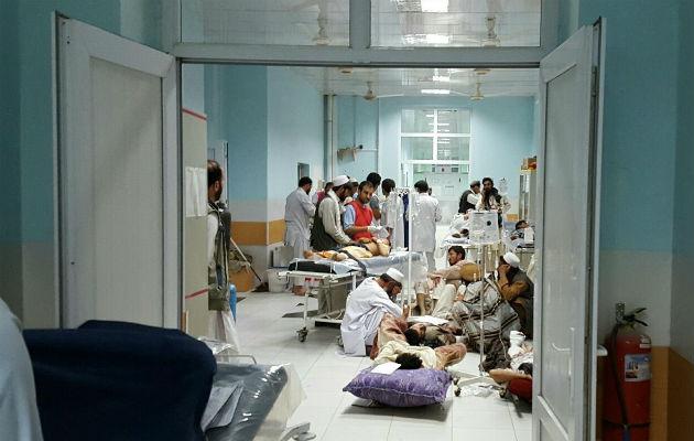 Vores hospital i Kunduz, Afghanistan, er det eneste i området til at tage mod sårede. © Læger uden Grænser