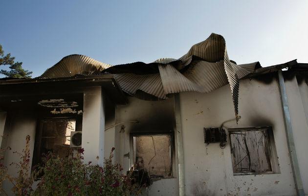 Billeder inde fra vores hospital i Kunduz viser de voldsomme ødelæggelser fra det amerikanske luftangreb den 3. oktober. © Victor J. Blue