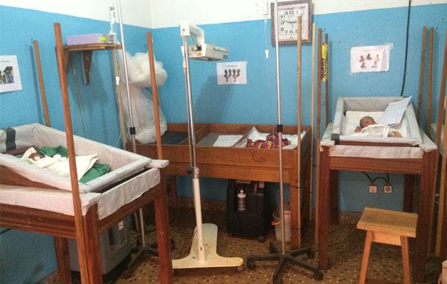 Neonatalafdelingen på hospitalet i Bangassou