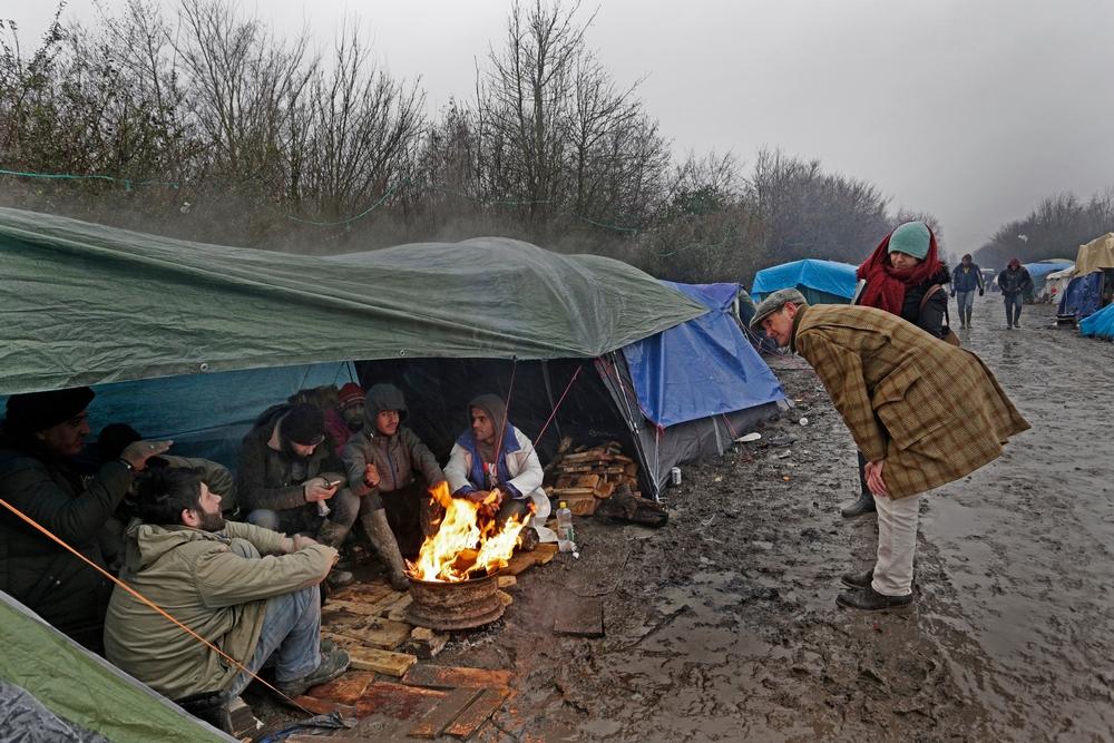 Forholdene er forfærdelige i en midlertidig teltlejr for mennesker på flugt i Dunkirk i Frankrig.