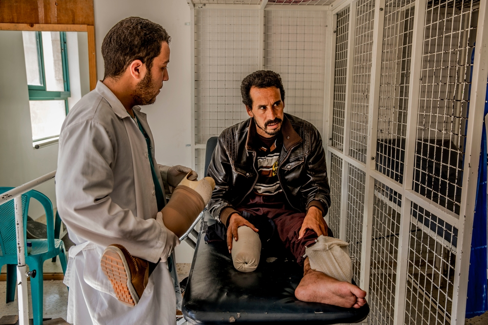 Læger uden Grænser driver et program for specialkirurgi i Amman, Jordan.