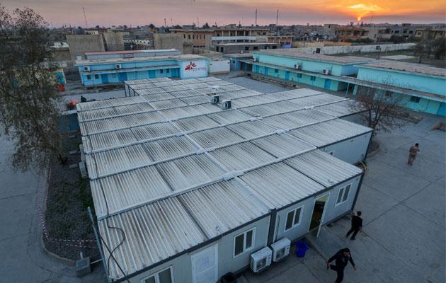 Læger uden Grænsers hospital i Qayyarah, Irak.