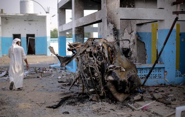 Sådan så det ud efter at Abs-hospitalet i det nordlige Yemen blev bombet i august 2016. I slutningen af året åbnede hospitalet igen.
