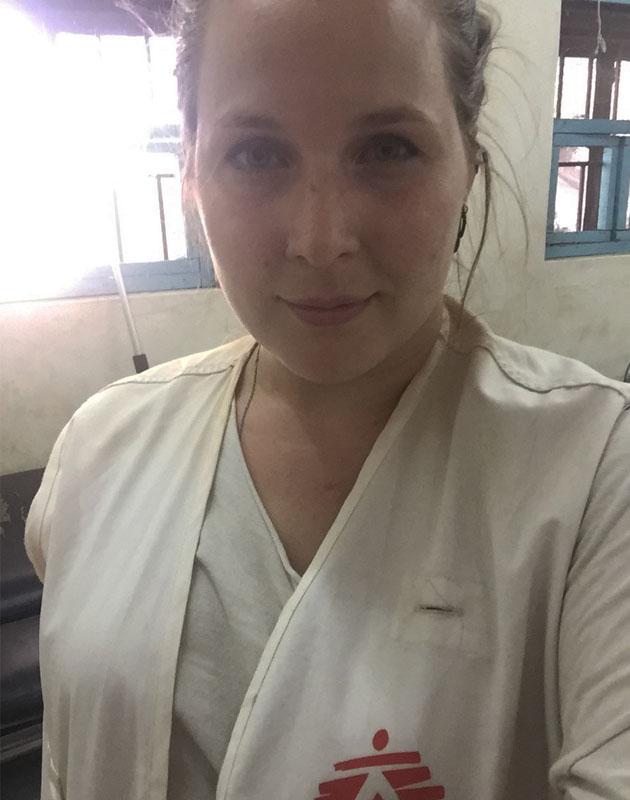 Olivia Svane Christiansen er udsendt som jordemoder til flygtningelejren i Doro i et halvt år.