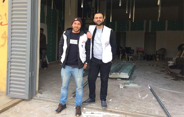 Sådan så den nedlagte butik ud, da Kasper gik i gang med arbejdet sammen med sine kolleger.