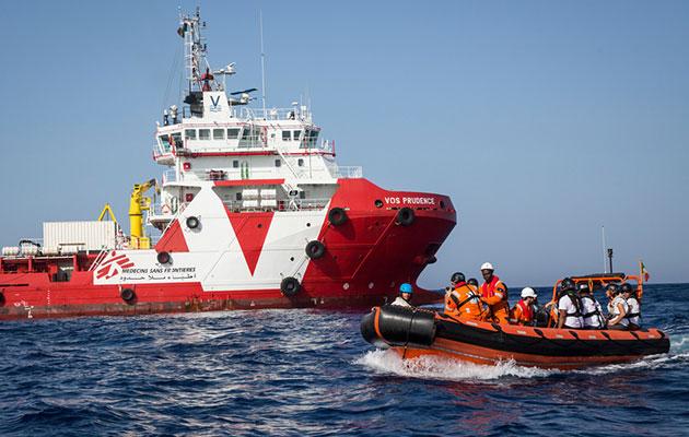 Prudence er Læger uden Grænsers skib på Middelhavet