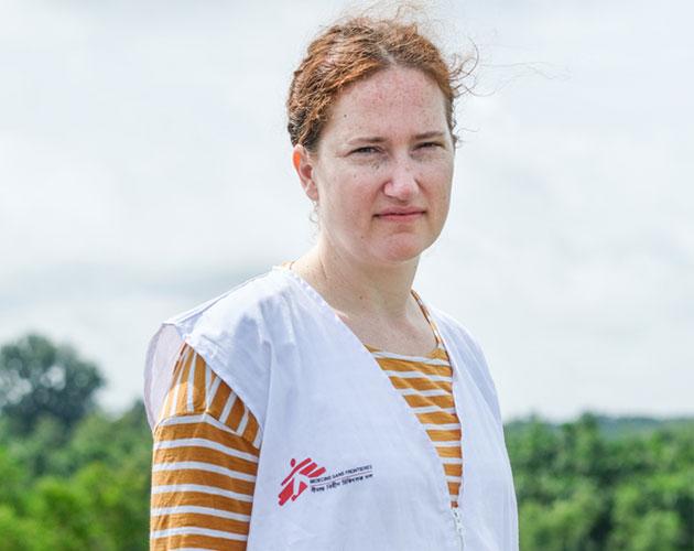 Kate arbejder for Læger uden Grænser