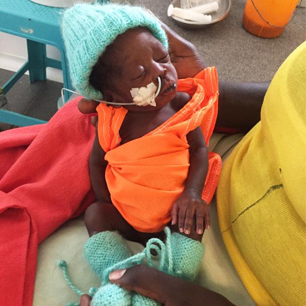 Kain på barselsgangen på Læger uden Grænsers klinik i Sydsudan