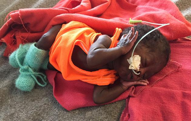 Kain overlevede på klinikken i Sydsudan