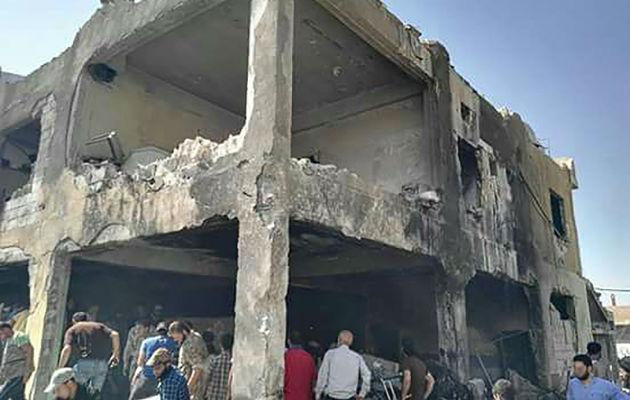 Dette hospital i Idlib provinsen blev støttet af Læger uden Grænser. Det blev sønderbombet i 2016. Fire sundhedsarbejdere og ni patienter døde. 80 procent af hospitalets medicinske udstyr blev ødelagt. © Læger uden Grænser