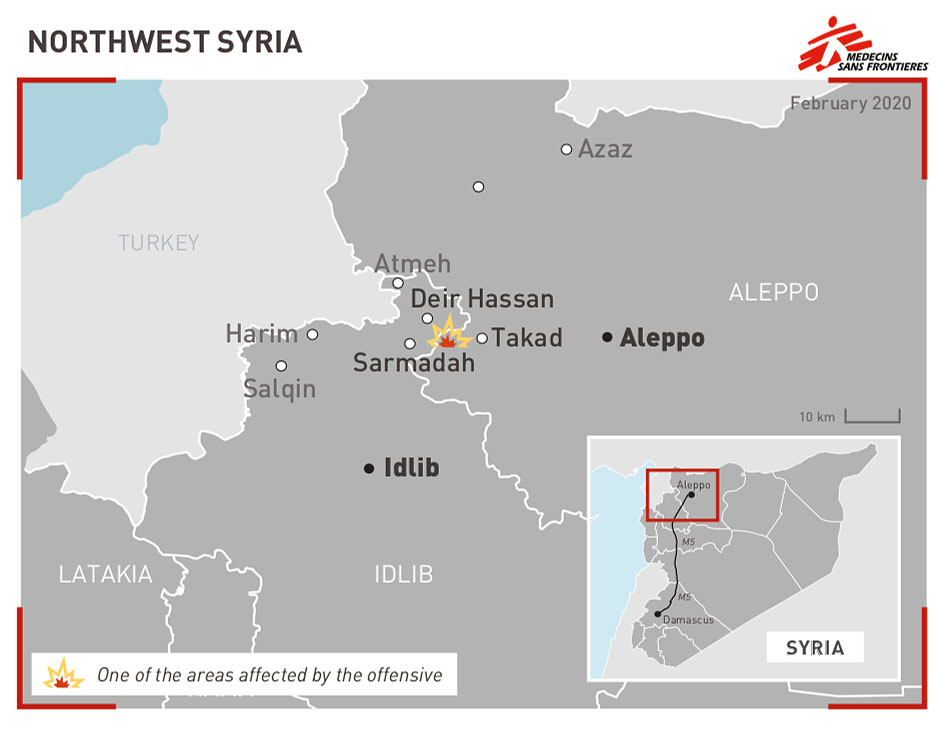 Det nordvestlige Syrien er under angreb.