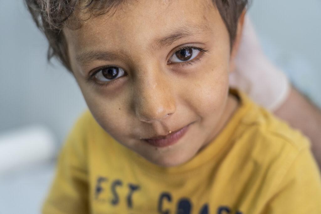 Læger uden Grænser (MSF) driver en klinik for børn i flygtningeljren Moria på Lesbos i Grækenland
