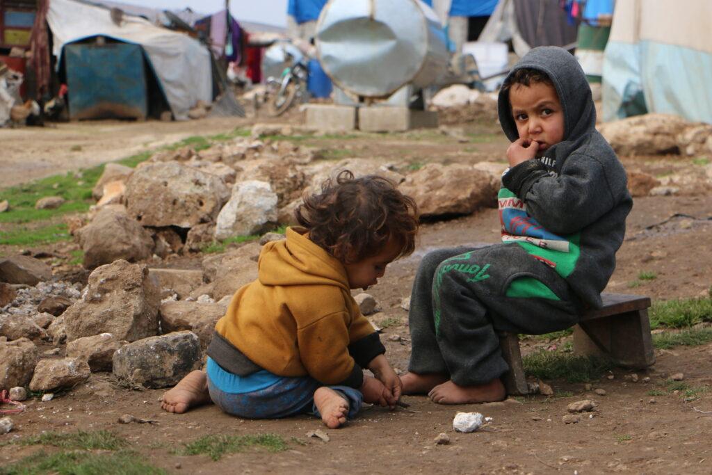 Børn i Idlib, Syrien.