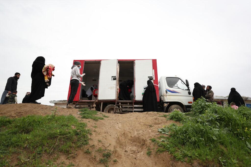 Mobil klinik i nordvestlige Syrien.