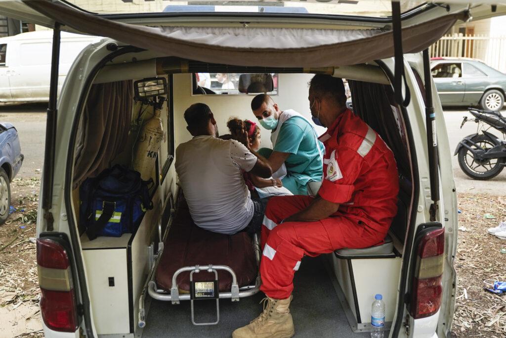 Læger uden Grænser (MSF) hjælper efter eksplosionen i Beirut