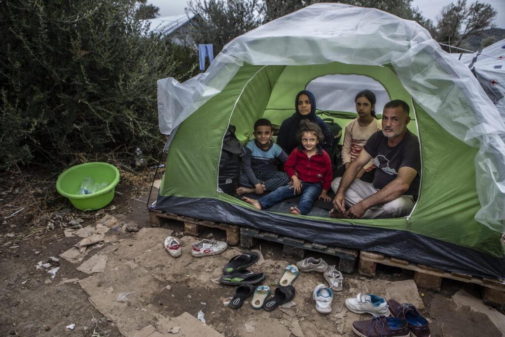 Brand i flygtningelejr Moria på Lesbos