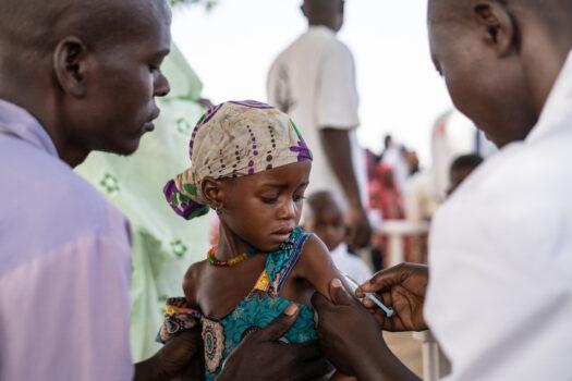Vaccineret mod mæslinger