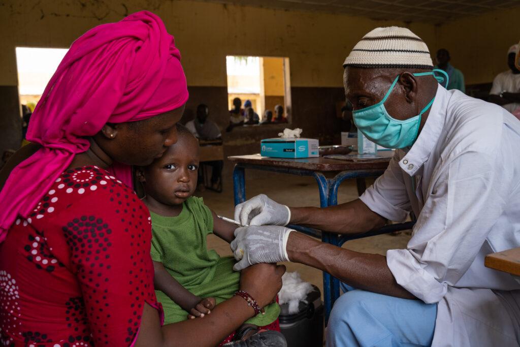 Vaccination mod mæslinger i Mali