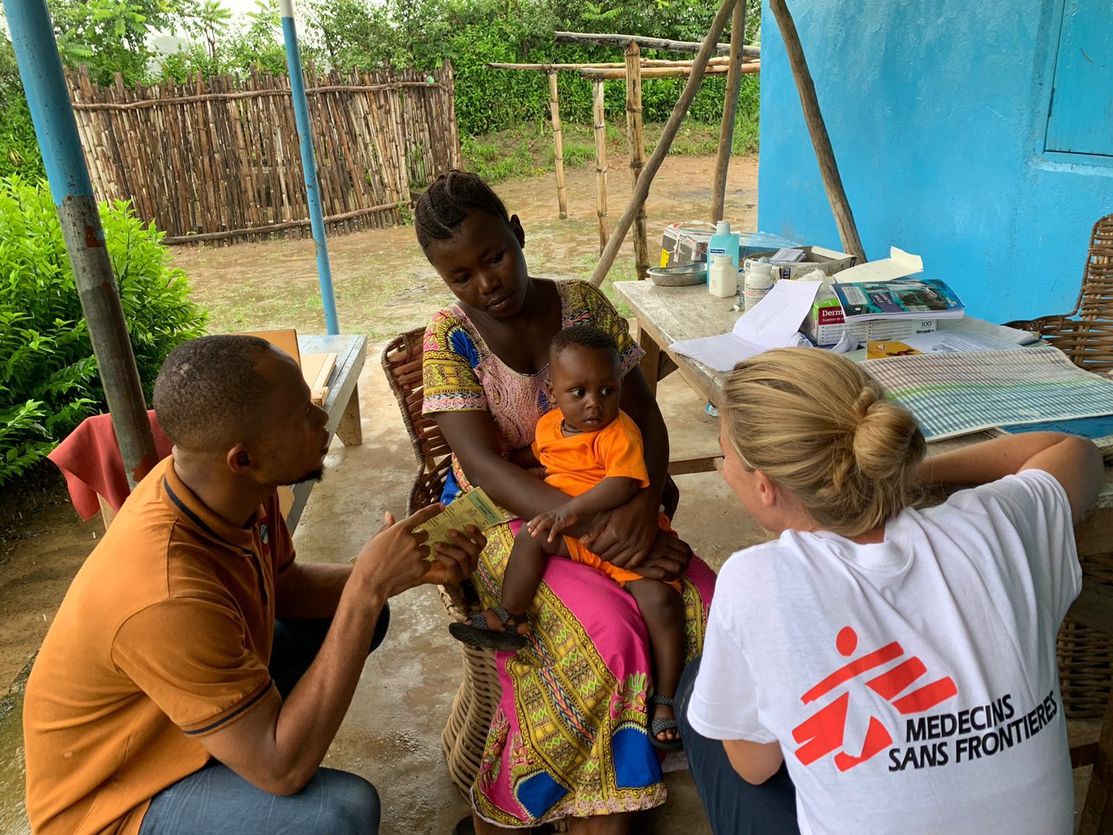 Isabel udsendt fra Læger uden Grænser (MSF) i Sierra Leone