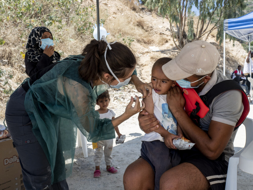 Flygtningelejr Vathy på Samos