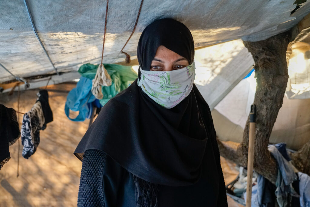 Flygtningelejr på Samos i Grækenland