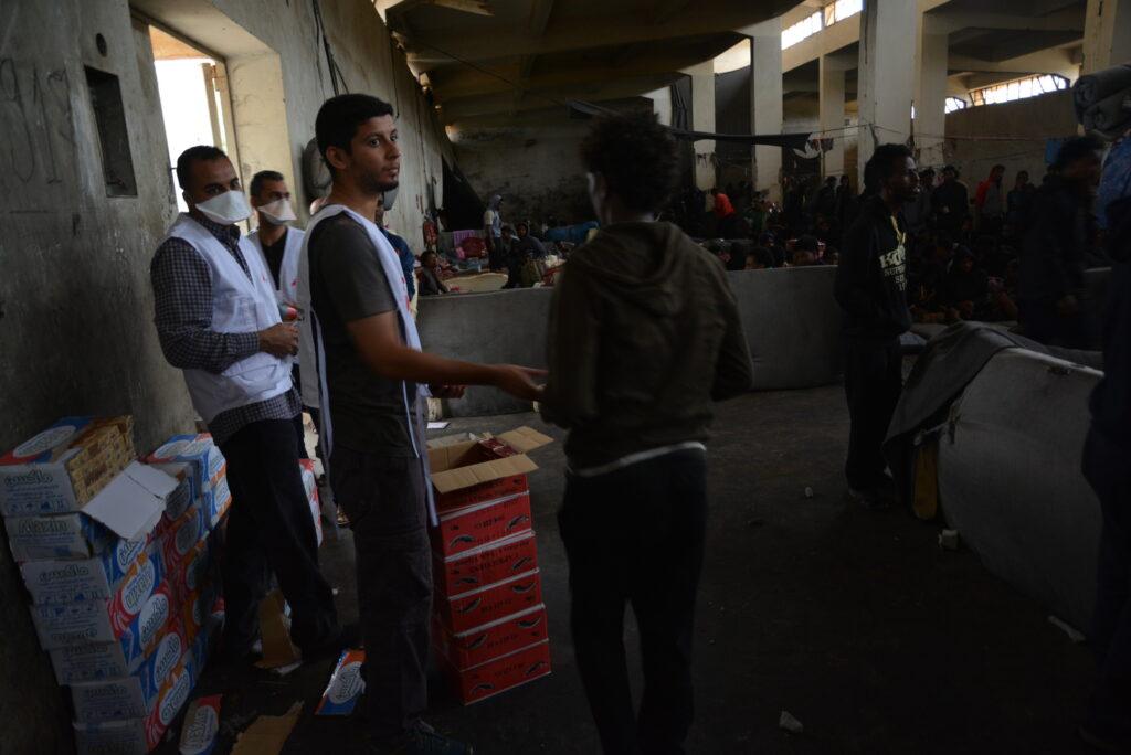 Detentionscentre flygtninge i Libyen