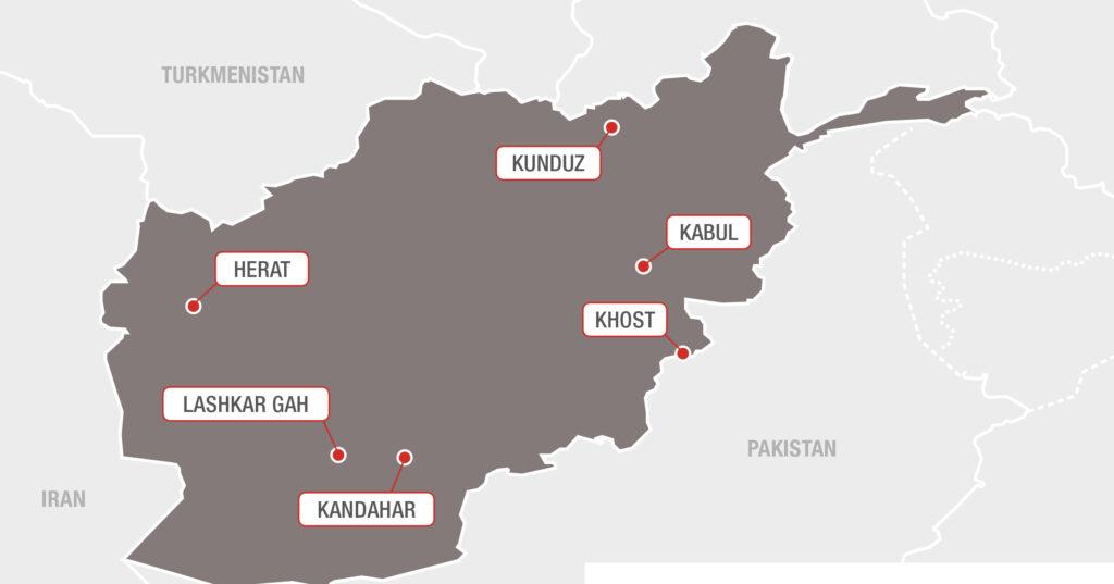 Kort Afghanistan