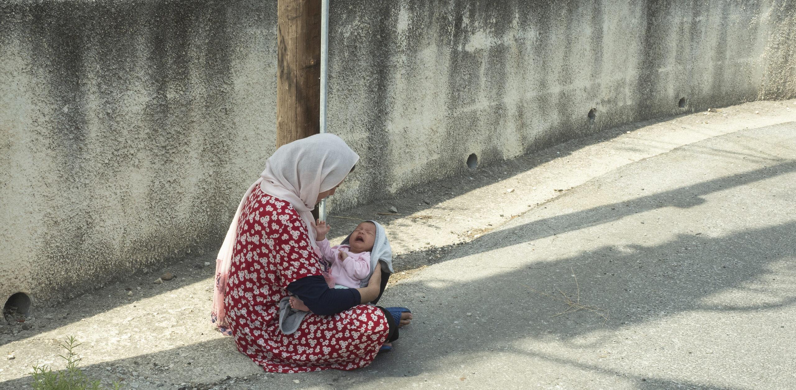 Flygtningelejr på Lesbos