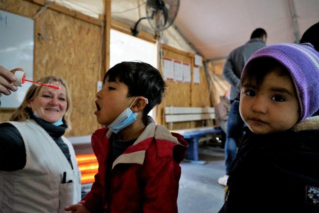 Flygtningebørn på Lesbos