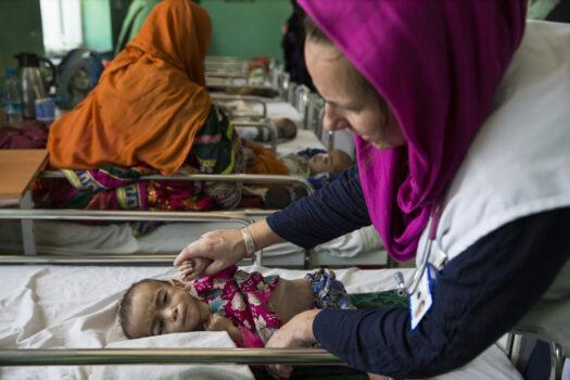 Underernæret barn Afghanistan